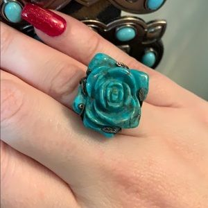 Jewelry - Turquoise rose ring